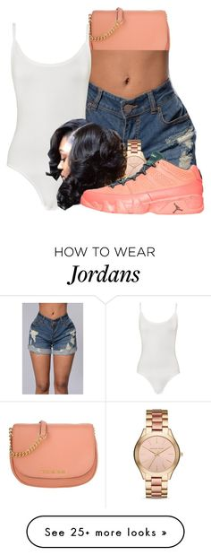 """""""Sucka For You"""" by dajvuuloaf on Polyvore featuring Michael Kors, WearAll and NIKE"""