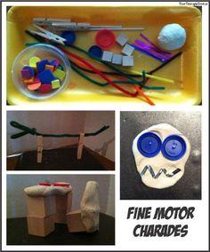 Fine Motor Charades