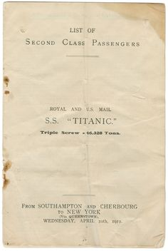 Artifacts From the Titanic | Titanic in Nova Scotia ~ Museum Artifacts