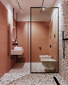 Wc Design, Bathroom Design Layout, Bathroom Design Small, Room Design Bedroom, Bathroom Interior Design, Modern Bathroom, Small House Interior Design, Dream Home Design, Minimalist Bathroom
