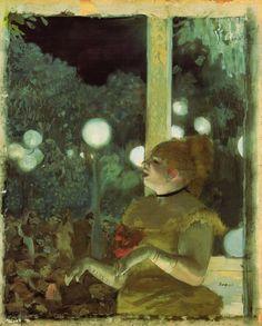 Edgar Degas, The Song of The Dog,1876-1877 on ArtStack #edgar-degas #art