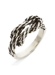 """""""Forget Me Knot"""" Ring by RockLove Jewelry (Silver) #InkedShop #knot #ring #jewelry"""