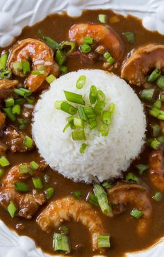 Shrimp Etouffee Creole Recipes, Cajun Recipes, Fish Recipes, Seafood Recipes, Cooking Recipes, Healthy Recipes, Healthy Food, Etouffee Recipe, Gastronomia