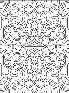 Deco Tech Geometric Coloring Book