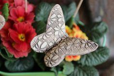 Pflanzen- & Gartenstecker - Schmetterling (Stecker für den Blumenkasten) - ein Designerstück von Atelier-Keramixx bei DaWanda