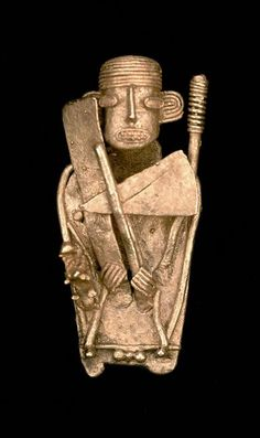 Muisca people. Votive figure Tumbaga 600 A.D. - 1600 A.D. Guatavita - Colombia.
