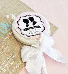 Mi Emporium - Vintage Wedding Personalised Lollipop Favours