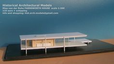 FARNSWORTH HOUSE by Mies van der Rohe scale 1:200, Lucio Tuzza