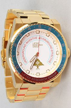 $230 The Yacht Watch in Gold by LRG lifted research group on #karmaloop -- Use repcode SMARTCANUCKS at the checkout for 20% off your order -- http://www.lovekarmaloop.com