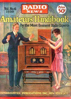 1930 Vintage magazine cover - Radio News
