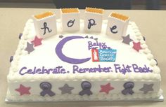 Relay for Life cake I made for the survivors Cakes I39ve