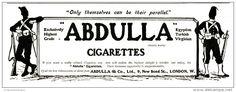 Original - Anzeige / Advertise 1903 : (ENGLISH) ABDULLA CIGARETTES / LONDON - 250 x 90 mm