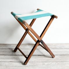 Vintage striped folding stools