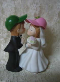 Red Tractor Country Farm Themed Bride Groom Fun Wedding cake topper ...