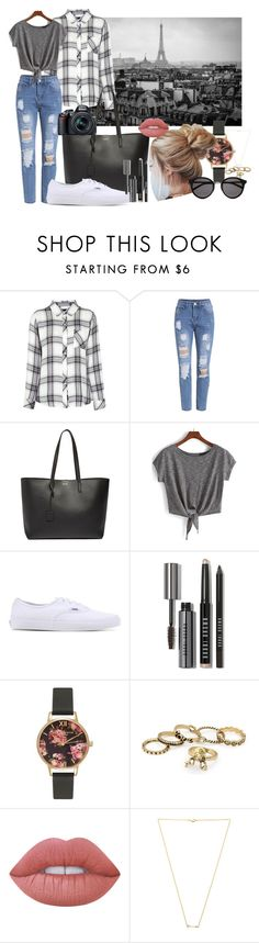 city - sightseeing by penguinx14 on Polyvore featuring Mode, Rails, Vans, Yves Saint Laurent, Olivia Burton, Wanderlust + Co, Bobbi Brown Cosmetics, Lime Crime and Nikon
