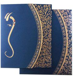 contemporary Hindu wedding invitation cards with gold goil peacock feather, indian wedding invitations, navy blue wedding colors Indian Wedding Invitation Cards, Hindu Wedding Cards, Indian Wedding Invitations, Wedding Gifts, Invitation Card Design, Wedding Invitation Design, Invites, Wedding Card Design Indian, Marriage Cards