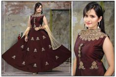 Gowns Attractive Designer Taffeta Silk Women Gown Fabric: Gown -Taffeta Silk Dupatta - Soft Net  Legging - Lycra Sleeves:Sleeves Are Not Included Size: Gown - M- 36 in XL- 40 in Legging - M- 30 in XL- 34 in  Dupatta - 2.15 Mtr Length: Gown - Up To 53 in  Legging - Up To 40 in  Flair: 4.00 Mtr Type: Stitched Description: It Has 1 Piece Of  Women Gown & 1 Dupatta &  Piece Of Legging Work : Gown -Embroidery  Legging - Solid Country of Origin: India Sizes Available: M, L, XL, XXL   Catalog Rating: ★4.3 (2846)  Catalog Name: Attractive Designer Taffeta Silk Women Gowns Vol 2 CatalogID_211429 C79-SC1289 Code: 149-10276277-8952