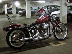 Springer Seat for Softail Custom - Custom Choppers, Custom Harleys, Harley Davidson Sportster, Cool Bikes, Vehicles, Bobbers, White Walls, Trucks, Red