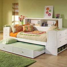 Cody Youth Bedroom Set - Hillsdale Furniture Cody Youth Bedroom Set Hillsdale Furniture Cody daybed unit is a versatile Daybed With Drawers, Trundle Bed With Storage, Daybed With Trundle, Bed Storage, Diy Daybed, Bunk Bed, Small Daybed, Daybed Sets, Wooden Daybed