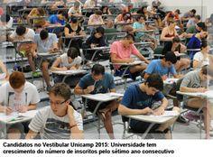 Candidatos no Vestibular Unicamp 2015: Universidade tem crescimento do número de inscritos pelo sétimo ano consecutivo