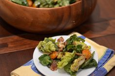 Little Gem Romaine Lettuce and Baby Spinach with Crispy Pancetta, Avocado, Orange Cherry Tomatoes and Gorgonzola Dolce