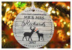 Thanks for the great review mikaylasmommyxox ★★★★★! http://etsy.me/2o0bCVD #etsy #housewares #homedecor #living #christmasornament #customornament #christmastree #woodenornament #mrmrsornament #ourfirstchristmas
