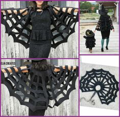 DIY Halloween Costume Tutorials for This Halloween : DIY No Sew Halloween Spiderweb cape tutorial DIY Halloween Costume Tutorials for This Halloween Zombie Halloween Costumes, Halloween Look, Halloween Tags, Homemade Halloween, Diy Costumes, Hero Costumes, Costume Ideas, Spider Costume Kids, Homemade Witch Costume