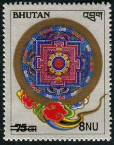 BHUTAN-75Ch-Revelued-Surcharged-8Nu-Mint