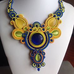 deanastasiadincher (Анастасия Динчер) | Iconosquare--Love the colors! Interesting soutache...