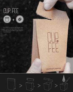 La mejor Copa! CUP.FEE – Coffee Cup Packaging Design por Jo Sae Bom and Jeong Lan