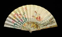 Fan Made Of Mother Of Pearl, Silk, Paint And Metal - Made By Tiffany & Co. (1837-Present) - American   c.1895-1905  -  The Metropolitan Museum Of Art