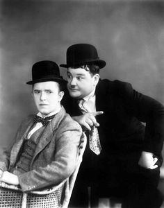 Mr Laurel and Mr Hardy.
