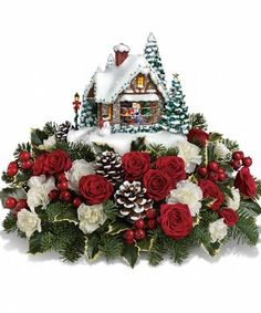 A Kiss for Christmas by City Line Florist #Trumbull #flowers
