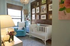 Jenna Bush Hager's nursery.  (If you live in an earthquake-area, please do not put large frames above the crib!)