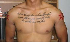 """Mens Quote #Tattoo """"We Are The Graceless And Dumbfounded"""""""