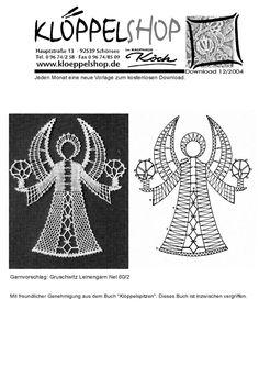 Google+ Crochet Angels, Crochet Lace, Bobbin Lace Patterns, Crochet Patterns, Christmas Angels, Christmas Themes, Lace Art, Angel Crafts, Lacemaking