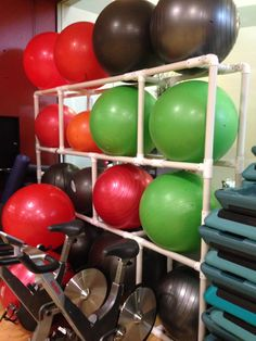 Genial Or This As Stability Ball Storage | SLC FIT Collective | Pinterest | Ball  Storage, Storage And Workout Rooms