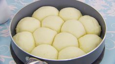 Dampfnudel - sweet German dumplings (Great British Baking Show) This dampfnudel recipe is featured in Season Episode British Baking Show Recipes, British Bake Off Recipes, Scottish Recipes, German Recipes, Steamed Bread Recipe, Steamed Buns, The Great British Bake Off, Pastry Recipes, Hardboiled