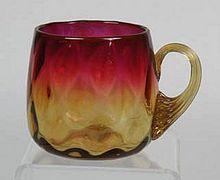 Circa 1870 New England Glass Company Amberina Glass Punch Cup