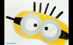 Adorable minion sleeping mask handmade to perfection by me using very soft felt.