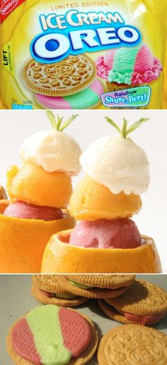 RAINBOW ICE CREAM SHERBERT oreos? MUST  try!!!!