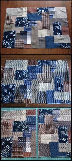 "boro tutorial- ahh this is on my list. I've been calling it ""hand quilting as you go"" and I plan to write a class curriculum for quilting arts."