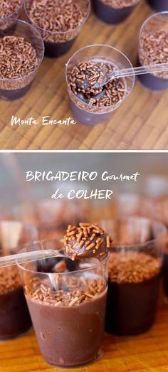 Este Brigadeiro, não é um brigadeiro qualquer, é um brigadeiro gourmet. Leva chocolate em barra meio amargo, em vez do tradicional achocolatado e o truque para deixá-lo cremoso é a adição creme de leite ao preparo. Faz toda a diferença, pode acreditar!