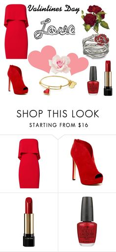 Valentines Day by starcrashing on Polyvore featuring Jay Godfrey, Nine West, Lancôme, OPI and Disney