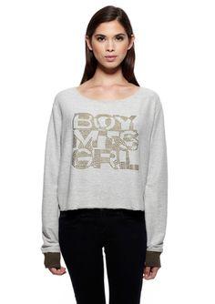 BOY MEETS GIRL Long Sleeve Branded Sweater $29.99