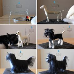Step by Step Terrier Tibetano  #handmade #needlefelting #felted #artesanos #bleufleur #dogs