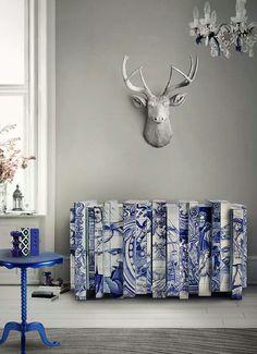 """Delft"" tile inspired sideboard by boca de lobo"