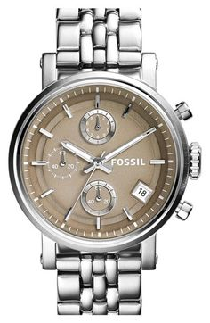 Fossil 'Original Boyfriend' Chronograph Bracelet Watch, 38mm available at #Nordstrom