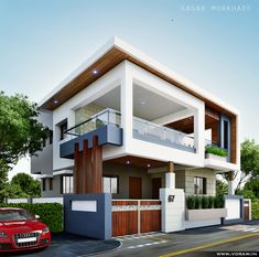 The interesting Modern Residential House Bungalow Exterior Arsagar Inside The Most Brilliant Bungalow Exterior Design image below, is section of … Bungalow House Design, House Front Design, Modern House Design, Modern Bungalow Exterior, Minimalist House Design, Modern Residential Architecture, Architecture Design, Mediterranean Architecture, Independent House