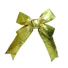 """36"""" Gold Four Loop Nylon Indoor Christmas Bow"""